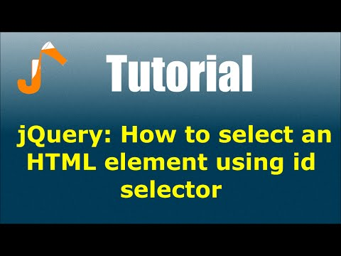 jQuery: How to select an HTML element using id selector