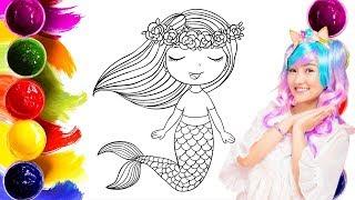 [Tô Màu Cho Bé | Coloring For Kid ] Nàng Tiên Cá | Mermaid | MeoMeoTV