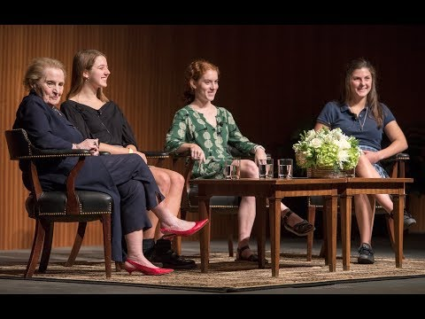 Madeleine Albright Speaks with High School Students in Austin