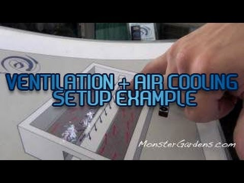 Sealed Grow Room HVAC Ventilation & Air Cooling Air Conditioning Sealed Garden Setup Example