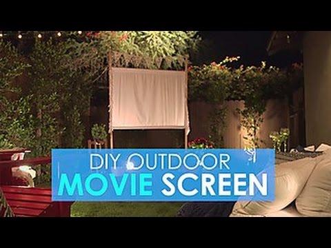 Easy DIY Outdoor Movie Screen - HGTV