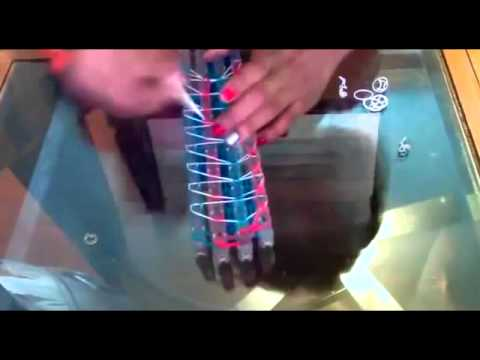 how to make a rainbow loom hair bow by hand