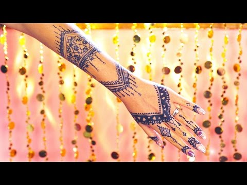 Draw along step-by-step henna tattoo jagua tutorial!