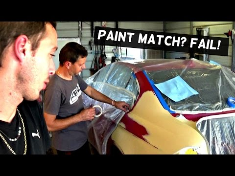 HOW TO BLEND CAR PAINT CLEAR COAT and BAD PAINT MATCH!