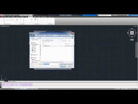 AutoCAD Tutorial Load a Lisp or Application