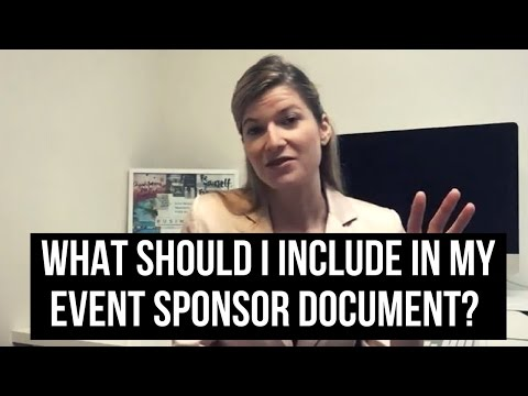 What should I include in my event sponsor document?