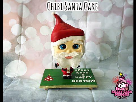 Chibi Santa Cake