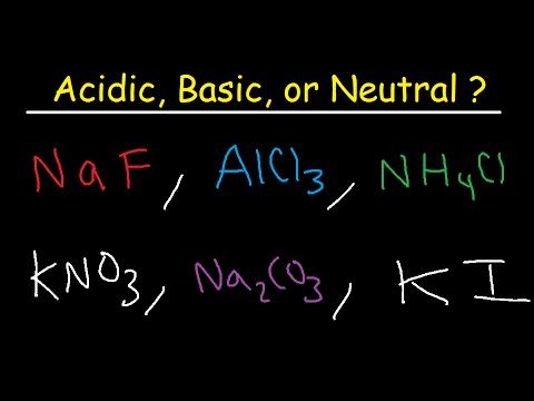 Acidic Basic and Neutral Salts - Compounds