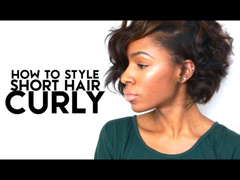 How To Style Short Hair Curly | VICKYLOGAN