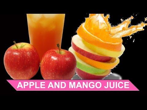 APPLE AND MANGO JUICE   STREET FOOD   JUICING RECIPE VIDEO   JUICE