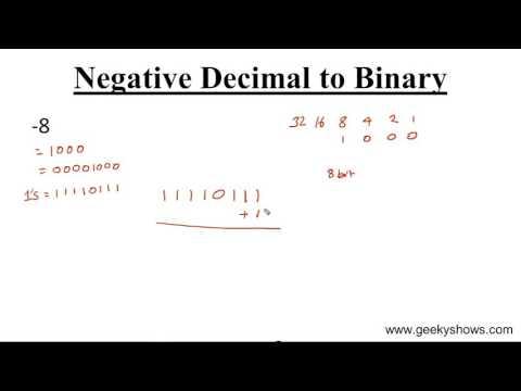 Negative Decimal to Binary Conversion (Hindi)