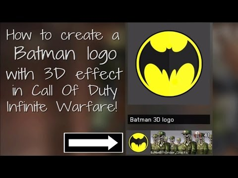 How to create a Batman logo with 3D effect custom emblem in (Call Of Duty Infinite Warfare)