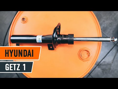 How to replace front strut mount and shock absorbers HYUNDAI GETZ 1 TUTORIAL  AUTODOC