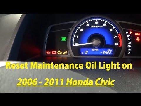 How to Reset Maintenance Oil Light on 2006 2007 2008 2009 2010 2011 Honda Civic