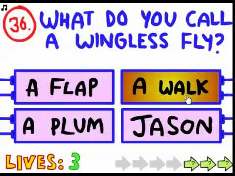 The Impossible Quiz -- Level 31-40 Walkthrough