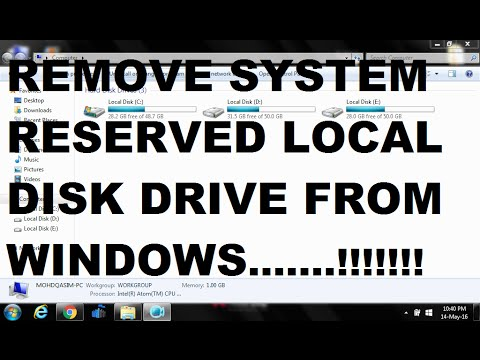 How To Remove System Reserved Partition On Windows 7/8/10