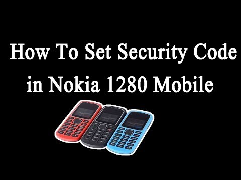 How To Set Security Code in Nokia 1280 Mobile OR Phone by