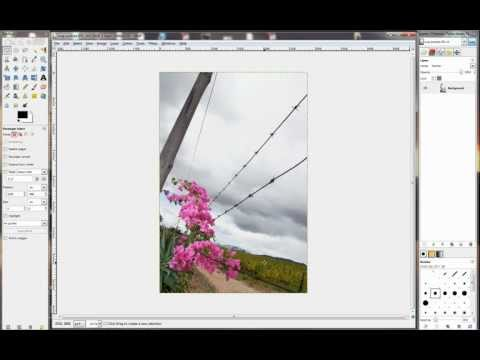 Gimp - Lesson - 05 - Cropping for Prints.avi