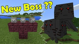 How to Spawn the 3 headed Ghast Boss | Minecraft