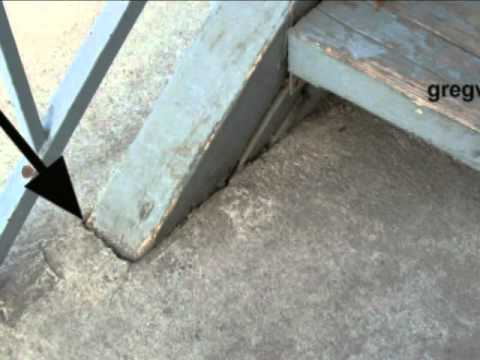 Wood Stair Stringer Embedded In Concrete - Stairway Construction