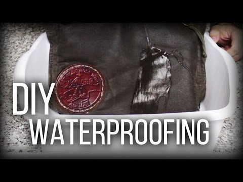 DIY Waterproofing - Waxed Canvas, cotton, leather