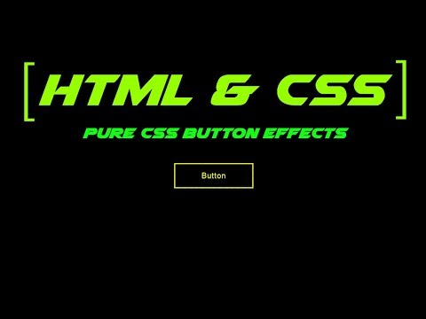 Pure Css Button Border Hover Effects || Html & Css Tutorial ||