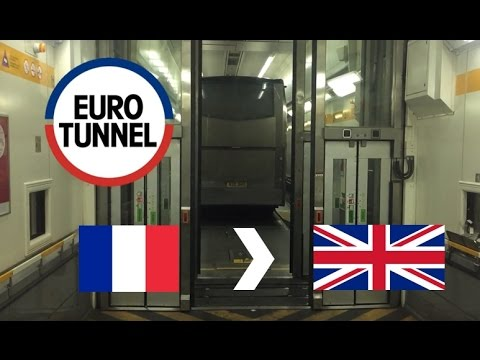 Eurotunnel Le Shuttle: France To UK (Full Journey On Coach) (03/12/2016)