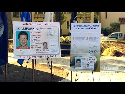 Veteran Driver's License and ID Cards for California Military Service Members