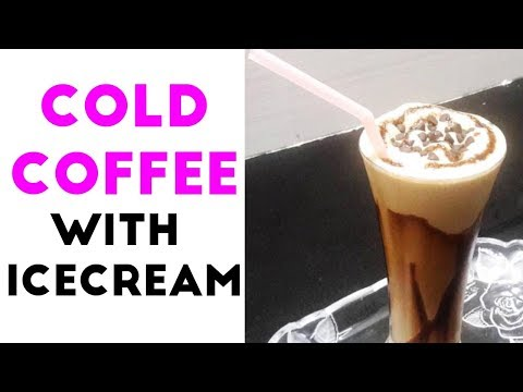 How to Make Cold Coffee With Icecream | Chocolate Cold Coffee Recipe