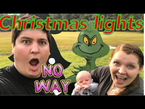 Christmas decorating with a newborn baby!