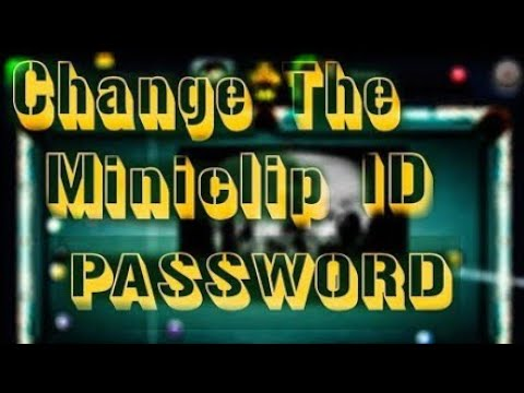 How to change password and email address of 8bp miniclip id