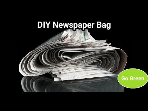 DIY Newspaper Bag/Cover | Recycle Newspaper | Go Green