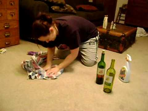 Daphne Cleans Red Wine Spill on White Carpet #2