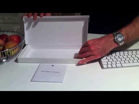 Apple iMac Wireless keyboard Tastatur unboxing 2012