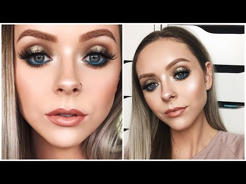 Neutral Prom Makeup Look With Pop Of Color!