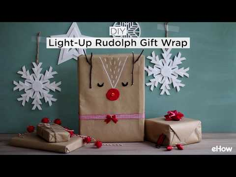 DIY Light-Up Rudolph Gift Wrap