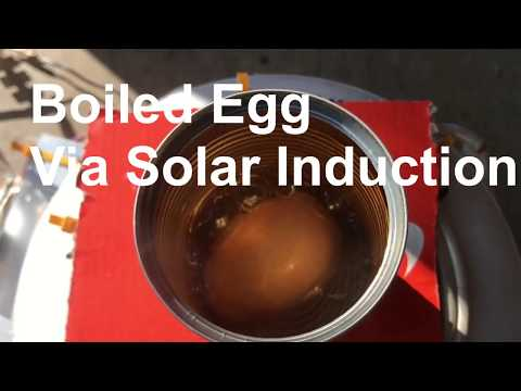 Sun Powered induction Cooking