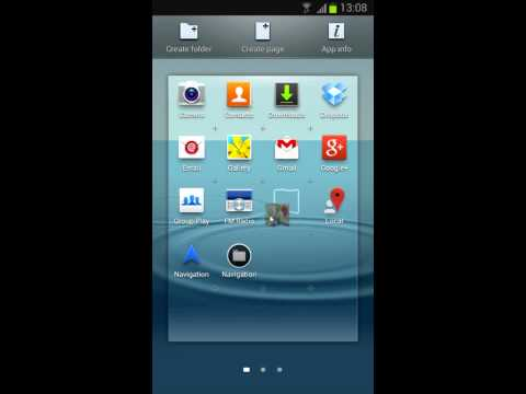 Folder create tutorial - Samsung Android Jelly Bean 4.1.2