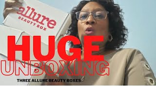 Unboxing 3 Allure Beauty Box Subscriptions