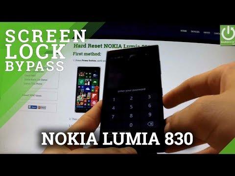 Hard Reset NOKIA Lumia 830 - how to bypass Lock Screen Pattern