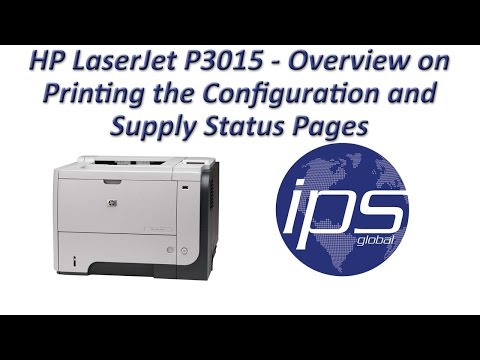 HP LaserJet P3015 - Overview on Printing the Configuration and Supply Status Pages