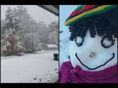 SNOW In Georgia 2017 & How to Build a Snow Woman