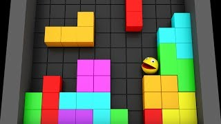 Pacman 3D in Tetris