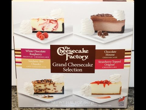 The Cheesecake Factory: White Chocolate Raspberry, Chocolate Mousse, Snickers Bar & Strawberry