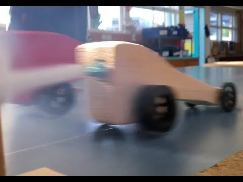 Slow Motion Co2 Dragsters