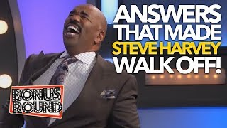 FUNNY Family Feud Answers That Made STEVE HARVEY Walk Off! Bonus Round