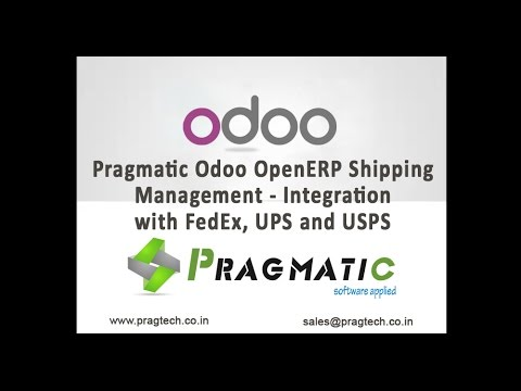 Pragmatic Odoo OpenERP Shipping Management   Integration with FedEx, UPS and USPS