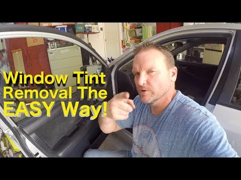 EASY Window Tint Removal - DIY