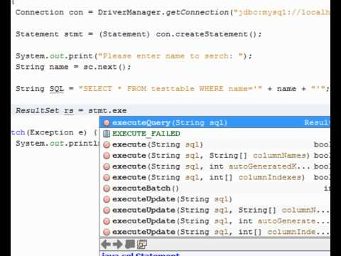Java & MySQL - Searching your database (NetBeans)