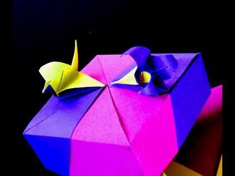 How to make an Origami Crane-Lily Box  Crane Module
